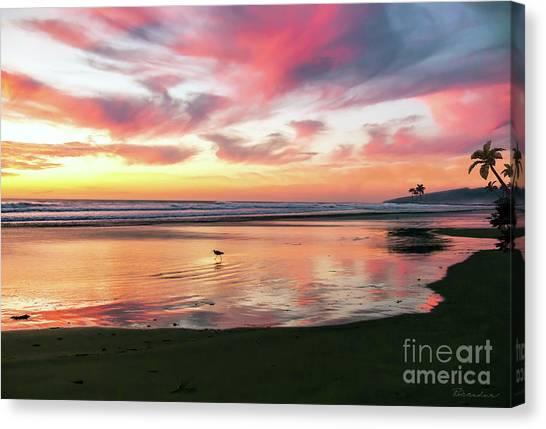 Tropical Sunset Island Bliss Seascape C8 Canvas Print