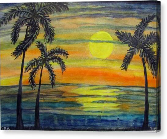Canvas Print - Tropical Sunset  by Pamula Reeves-Barker
