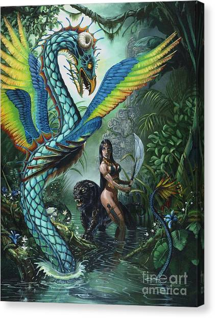 Dragon Canvas Print - Tropical Temptress by Stanley Morrison