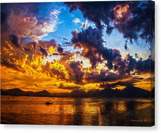Tropical Twilight I Canvas Print