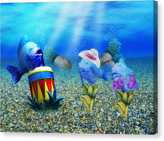 Bongos Canvas Print - Tropical Vacation Under The Sea by Gravityx9  Designs