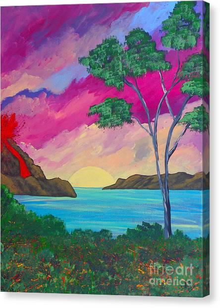 Tropical Volcano Canvas Print