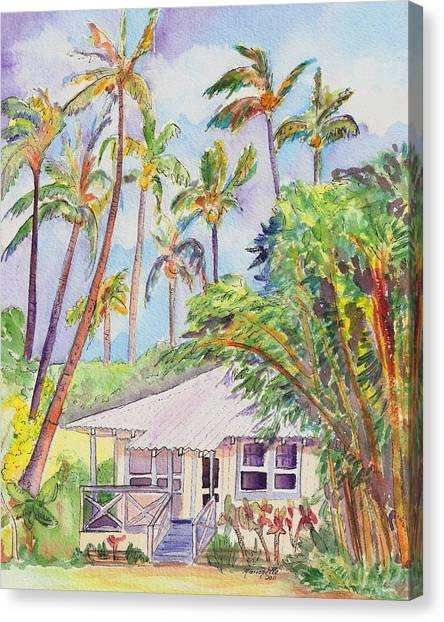 Tropical Waimea Cottage Canvas Print