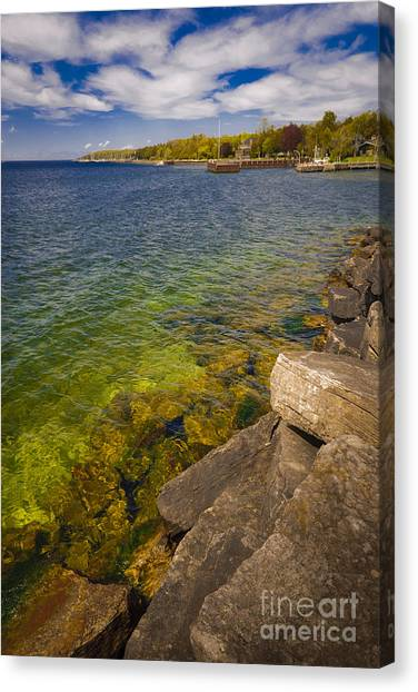 Tropical Waters Of Door County Wisconsin Canvas Print