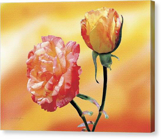 Tropicana Roses 2 Canvas Print by Jan Baughman