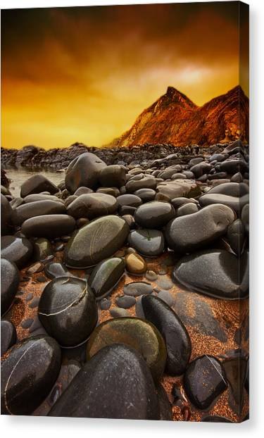 Troublesome Sky Canvas Print by Mark Leader