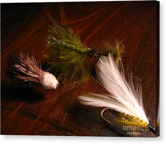 Trout Flys Canvas Print by Greg Patzer