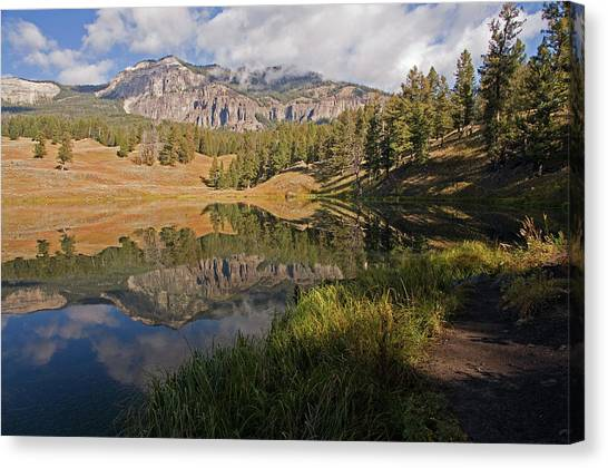 Yellowstone National Park Canvas Print - Trout Lake, Yellowstone National Park by DBushue Photography