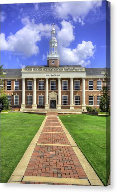 Troy University Troy Canvas Print - Troy University Alabama by JC Findley