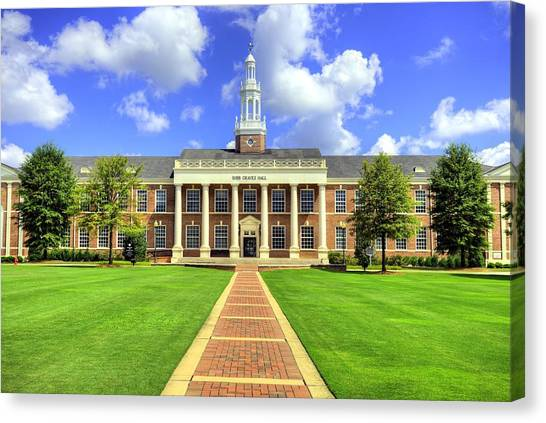 Sun Belt Canvas Print - Troy University Bibb Graves Hall by JC Findley