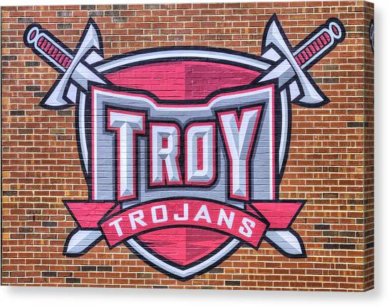Troy University Troy Canvas Print - Troy University Trojans by JC Findley