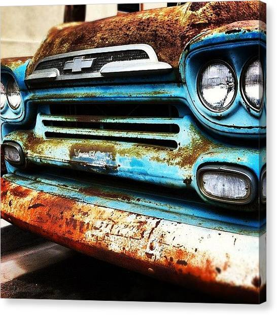 Trucks Canvas Print - #truck #chevy #old #rust #rusty by Daniel Corson