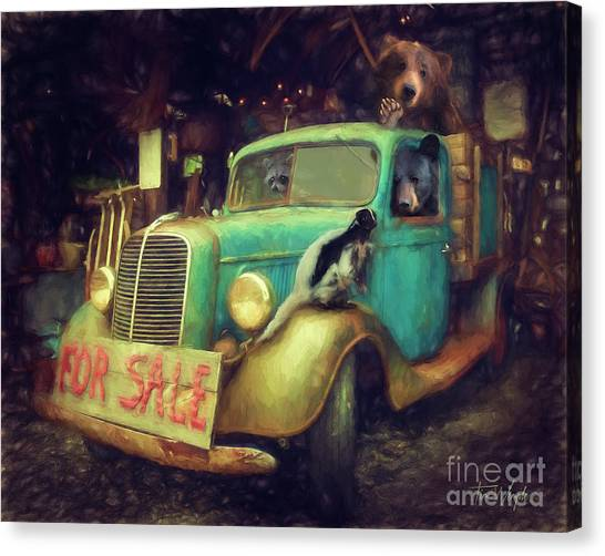 Truck Sale Canvas Print by Tim Wemple