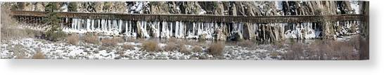 Truckee River Flumes Canvas Print by Edward Hass