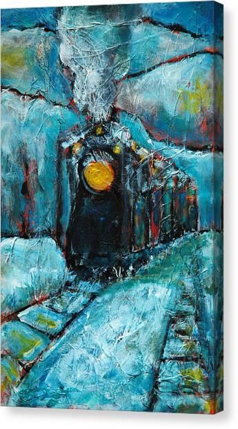 Truckee Train 1 Canvas Print by Sara Zimmerman