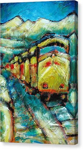 Truckee Train 2 Canvas Print by Sara Zimmerman