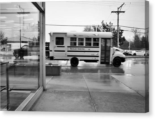 Truckin' In The Rain Canvas Print