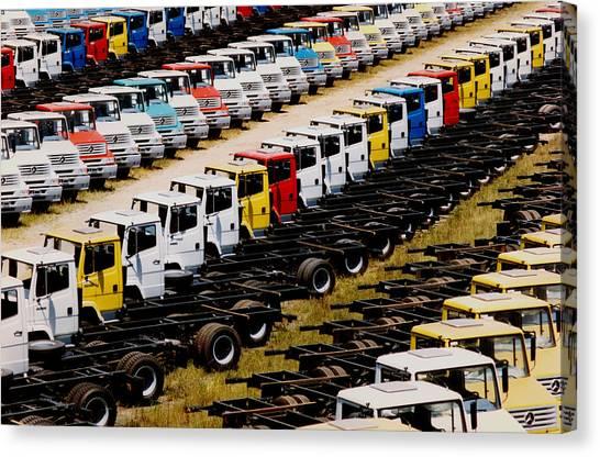 Trucks Canvas Print by Amarildo Correa