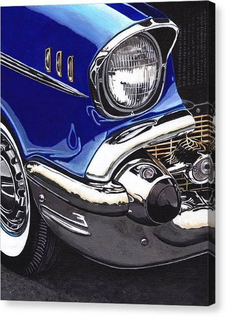 True Blue '57 Canvas Print