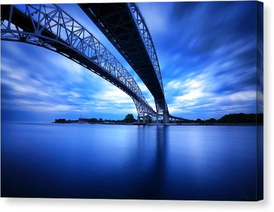 True Blue View Canvas Print