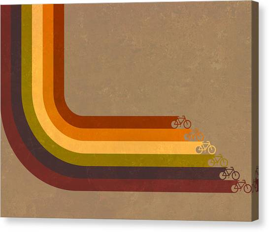 Rainbows Canvas Print - True Colors Cyclery Bikes For All Types by Victoria Collins
