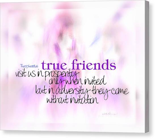 True Friends Canvas Print