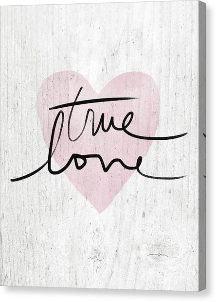 Design Canvas Print - True Love Rustic- Art By Linda Woods by Linda Woods
