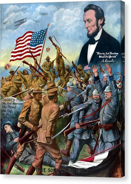 History Canvas Print - True Sons Of Freedom -- Ww1 Propaganda by War Is Hell Store
