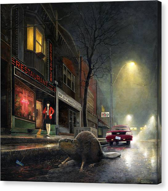 True Story Canvas Print by Martin Tielli