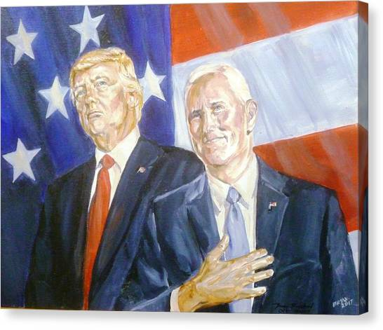 Mike Pence Canvas Print - Trump Pence 2016 by Bryan Bustard