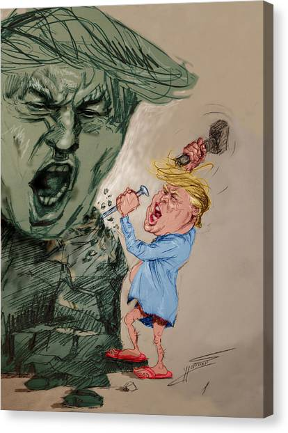 Donald Trump Canvas Print - Trump Shaping The Future  by Ylli Haruni
