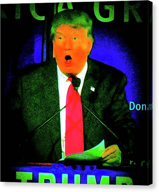 Mike Pence Canvas Print - Trump The Loompa by Michael Frizzell