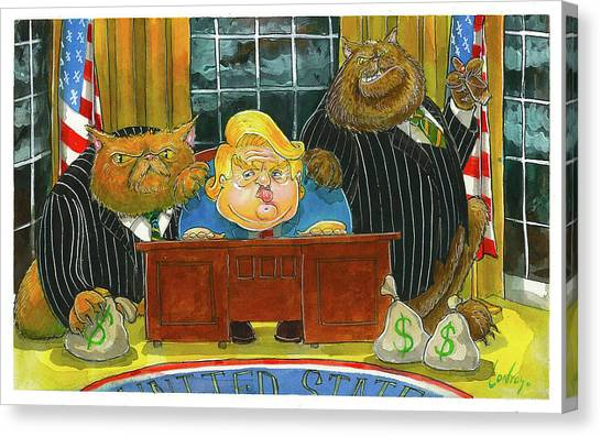 Obamacare Canvas Print - Trumpcare Done by Pete Conroy