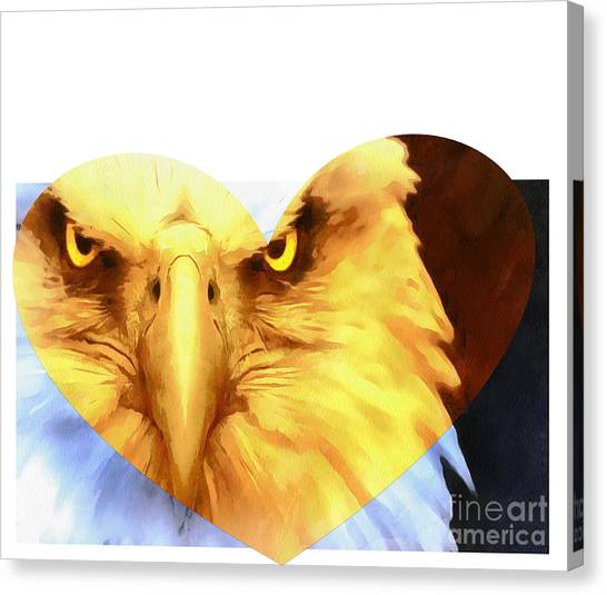 Impartial Canvas Print - Trumped Gold On White by Catherine Lott