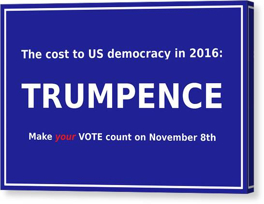 Mike Pence Canvas Print - Trumpence by Richard Reeve