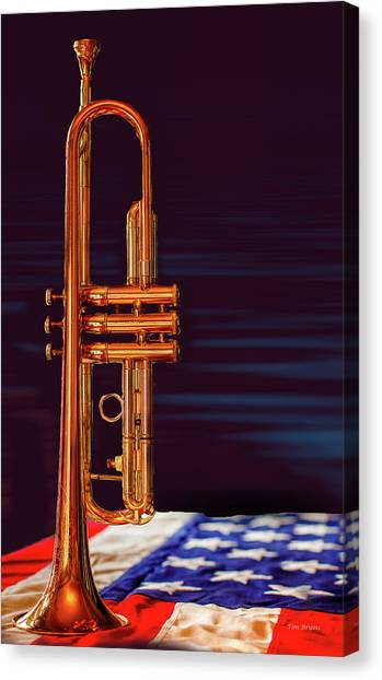 Trumpet-close Up Canvas Print