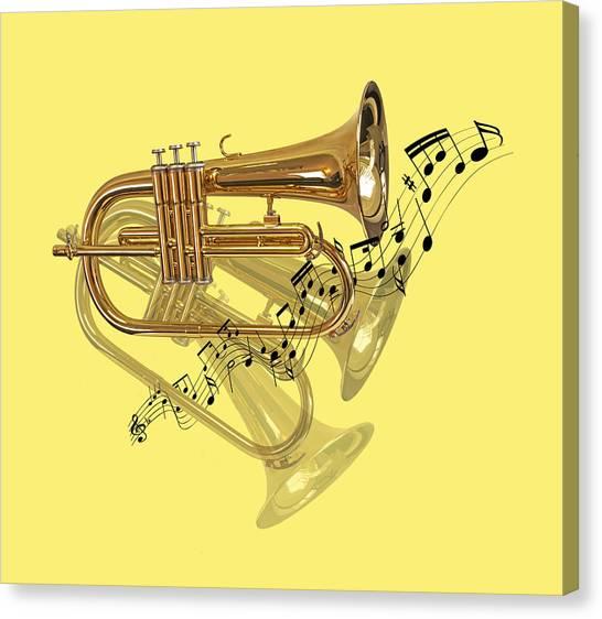 Trumpet Fanfare Canvas Print
