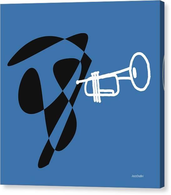 Trumpet In Blue Canvas Print