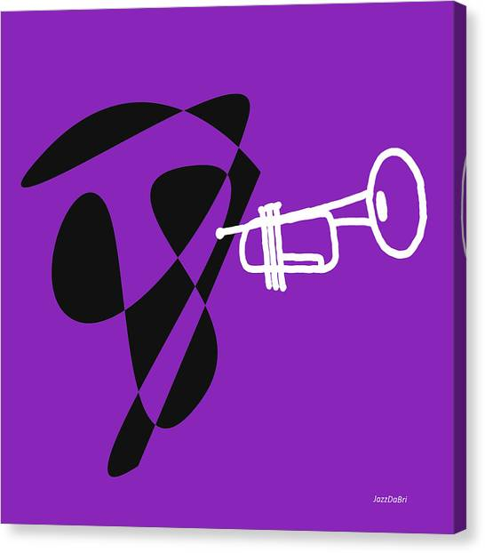Trumpet In Purple Canvas Print