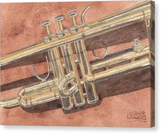 Trumpets Canvas Print - Trumpet by Ken Powers