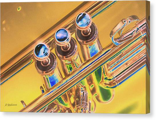 Trumpet Keys Canvas Print