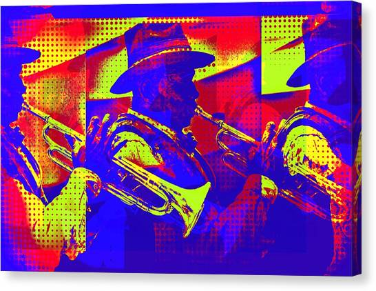 Trumpet Player Pop-art Canvas Print