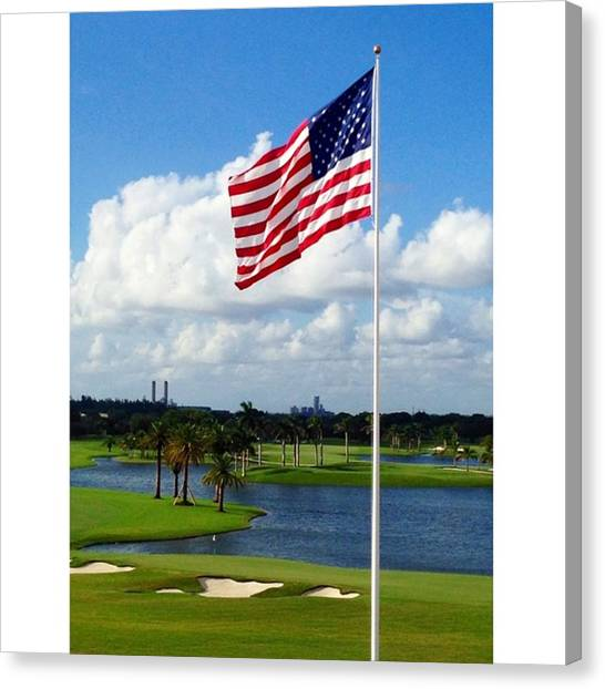 Sports Canvas Print - #trumpnationaldoral #doral #miami by Juan Silva