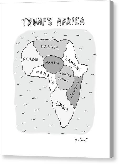 Trumps Africa Canvas Print