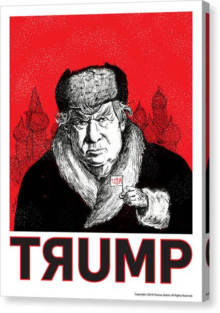 Democratic Canvas Print - Trumpski by Thomas Seltzer