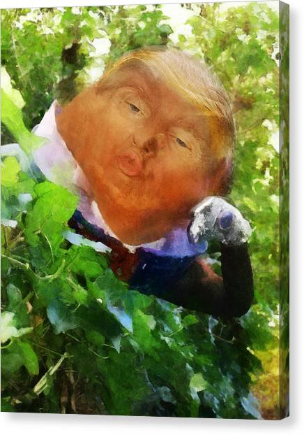 Trumpty Dumpty San On A Wall Canvas Print