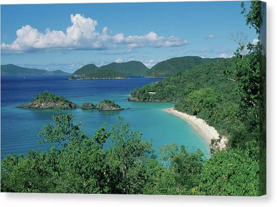 Trunk Bay And Beach Canvas Print