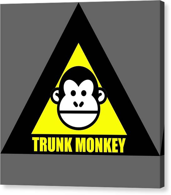 Trunk Monkey Canvas Print