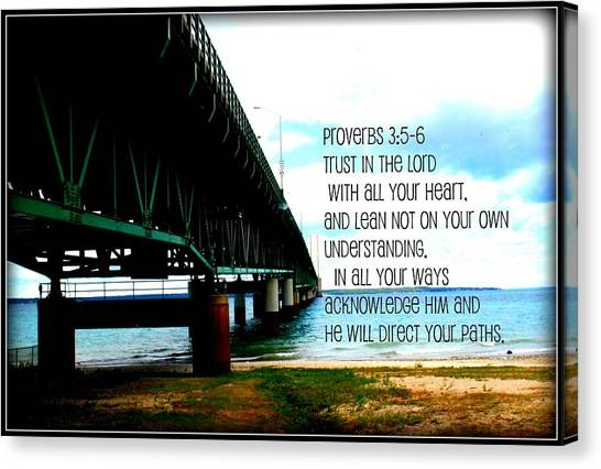 Trust In The Lord Canvas Print by Elizabeth Babler