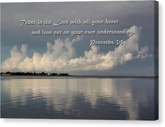 Praise The Lord Canvas Print - Trust In The Lord by HH Photography of Florida